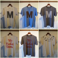 M エム / used dyeing crew neck t-shirts (my fuckin' dream)