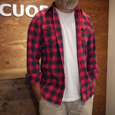 Marbles マーブルズ / CUT OFF FLANNEL RED