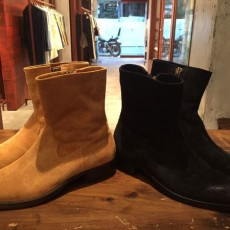 M エム / suede side zip western boots