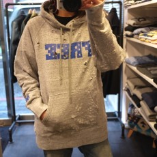 M エム / broken pullover parka (FREE) heather gray