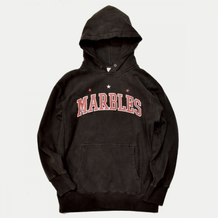 Marbles マーブルズ パーカー / MARBLES PIGMENT HOODED PARKA BLACK