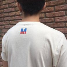 M エム / crew neck t-shirts (Lets GO) used white