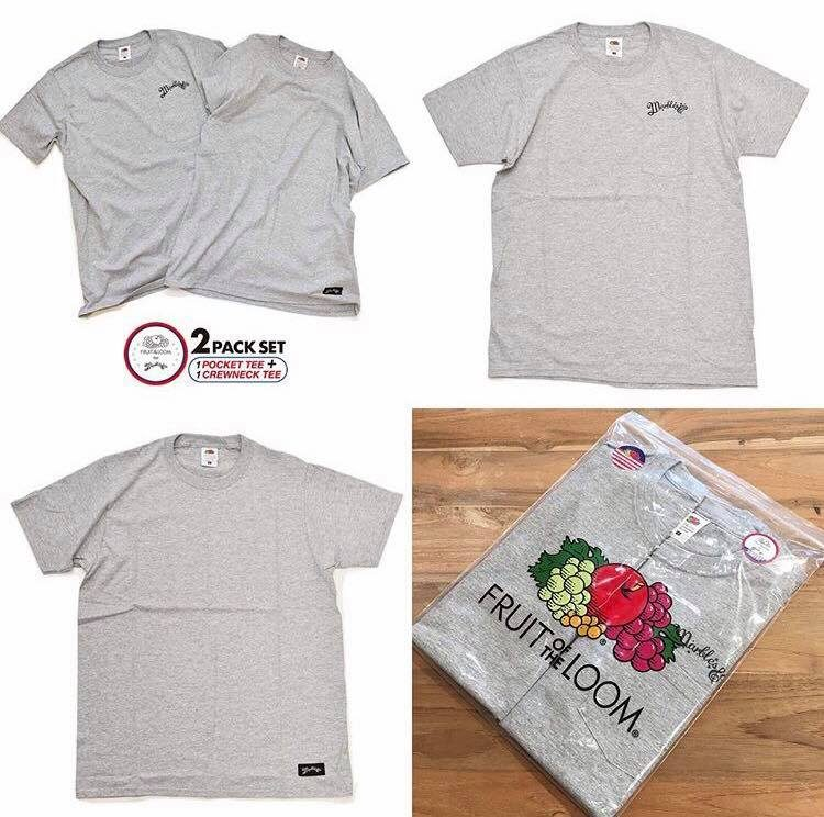 Marbles / FRUIT OF THE LOOM×Marbles 2-Pack T-Shirt #Neo Logo
