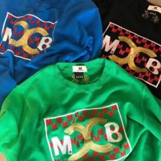 M エム スウェット シャツ / washed embroidery sweat shirts( M×BGHB )