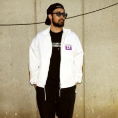 M エム アウター / drizzler jacket white